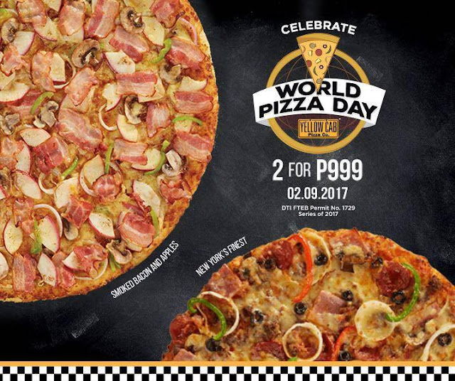 This Just In! Yellow Cab Celebrates World Pizza Day With Unlimited Pizza - Only Till 11:59PM TODAY!