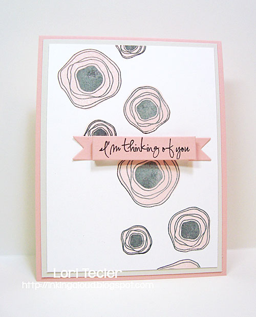 I'm Thinking of You card-designed by Lori Tecler/Inking Aloud-stamps from Verve Stamps