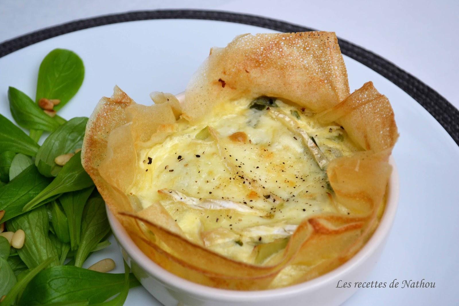 Ma cuisine au fil de mes id es tartelettes en feuilles for Idee d entree rapide
