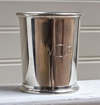 engraved silver mint julep cup