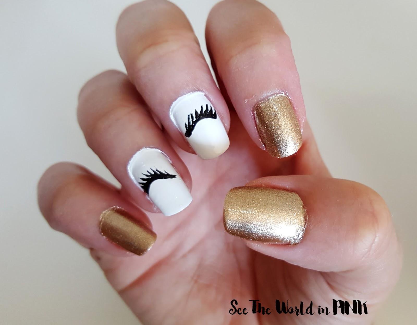 Eyelash Nail Art