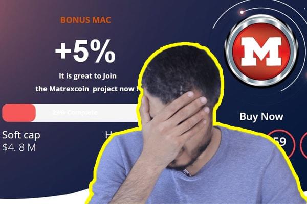 موقع و عملة matrexcoin نصابة