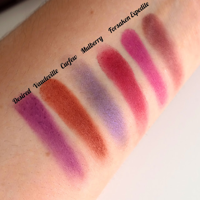 I ♥ Revolution Violet swatches