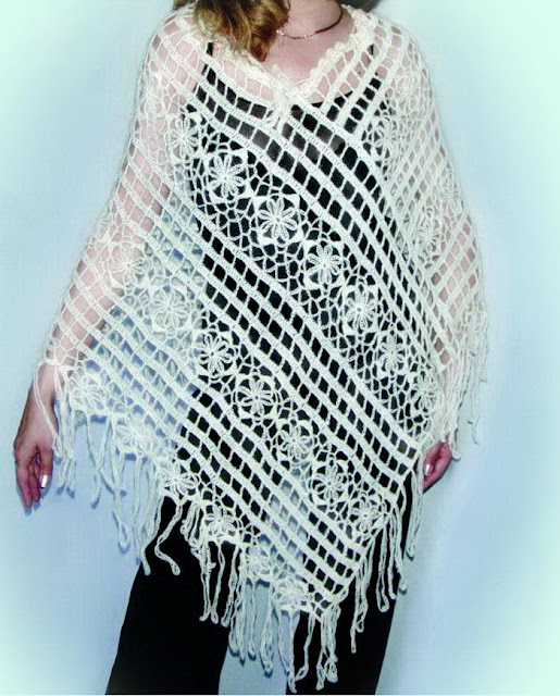Crochet Poncho with Pattern