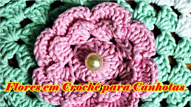 Crocvhê para Canhota Edinir Croche Flores Aprender CrocheYoutube Facebook curso de croche