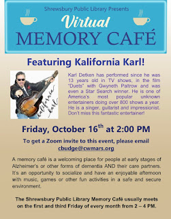 "Virtual Memory Cafe features ""Kalifornia Karl "" - Oct 16, 2020"