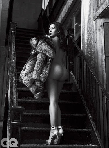 kim kardashian naked photo shoot gq magazine