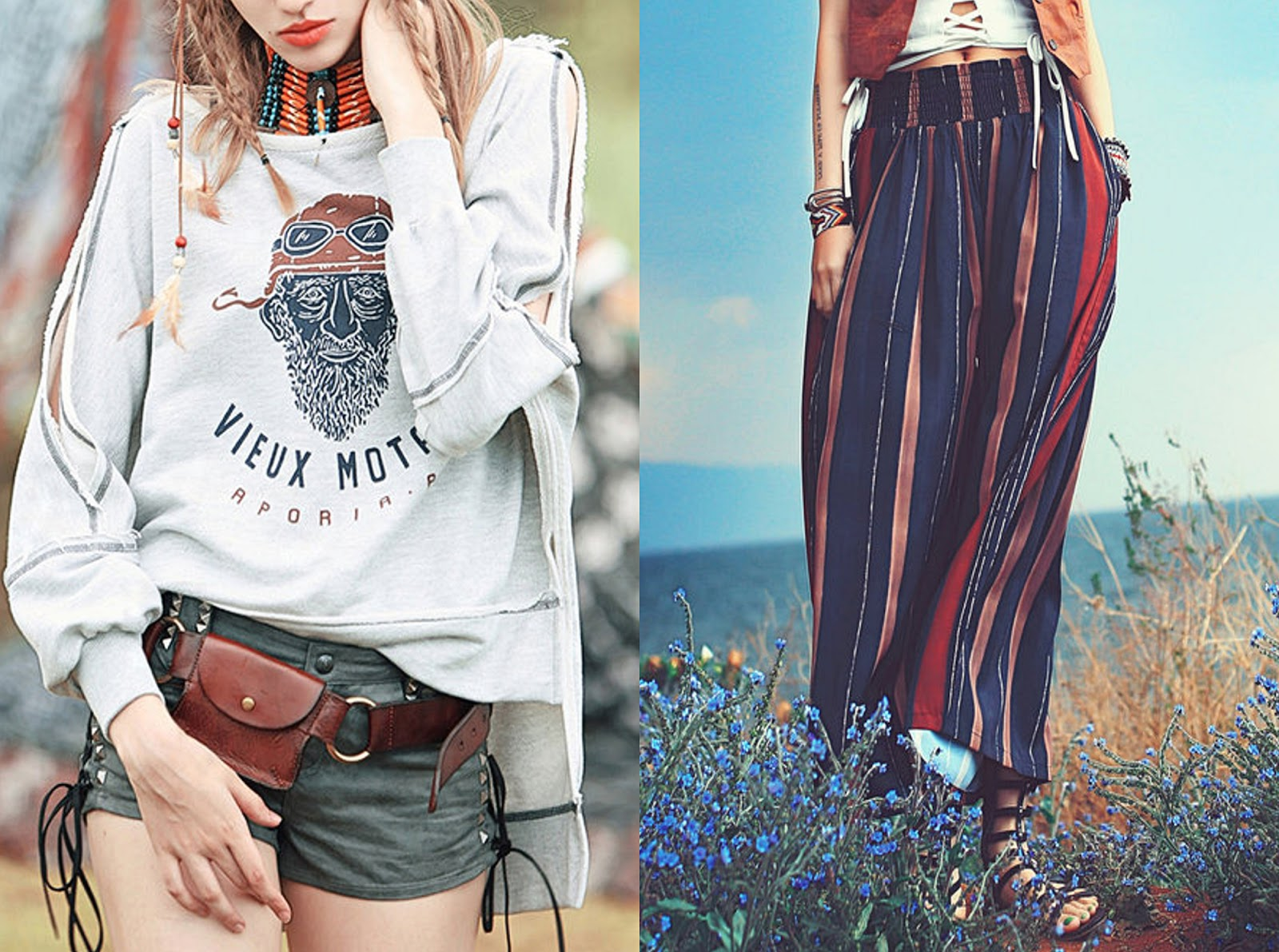 bohemian boho chis style trend outfit ideas summer 2017 fashion breygel