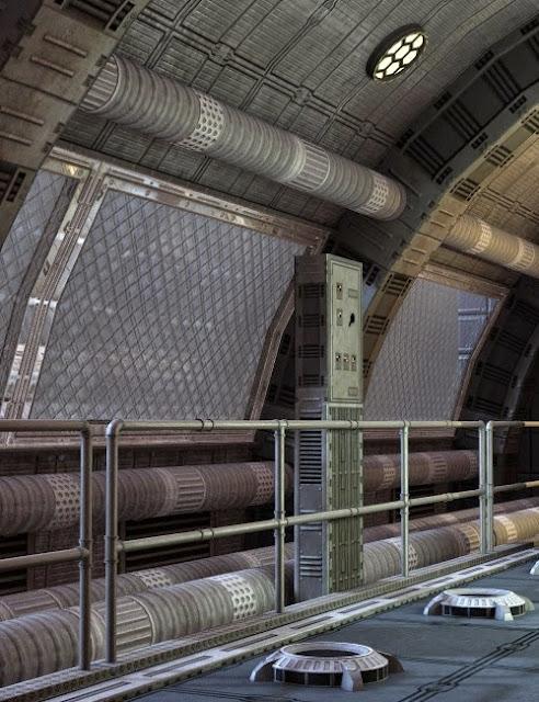 Sci-Fi Corridor arrondi