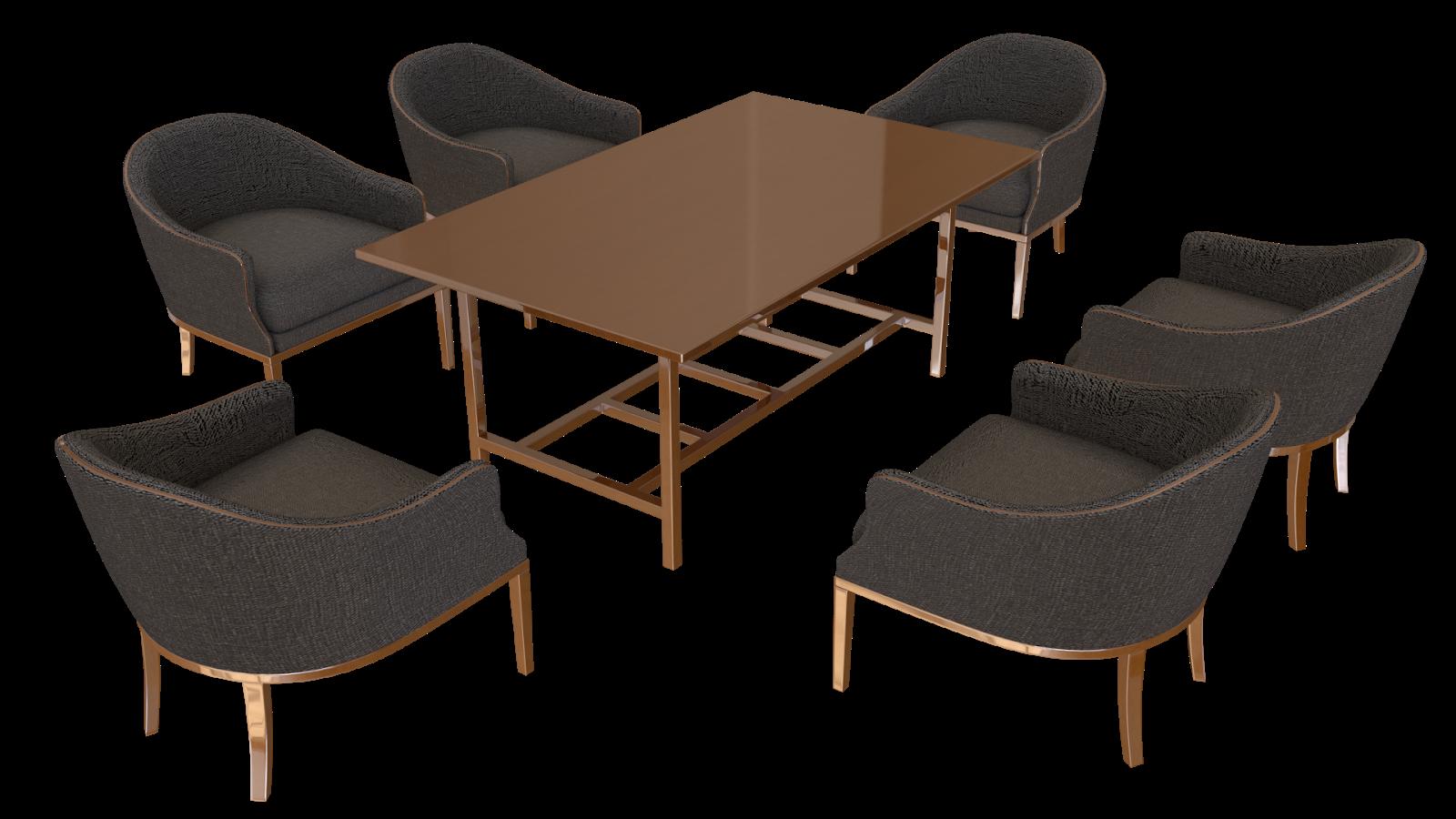 Free 3D Sofa Chairs & Table CC0 3DS - Free 3D Models Under Public Domain