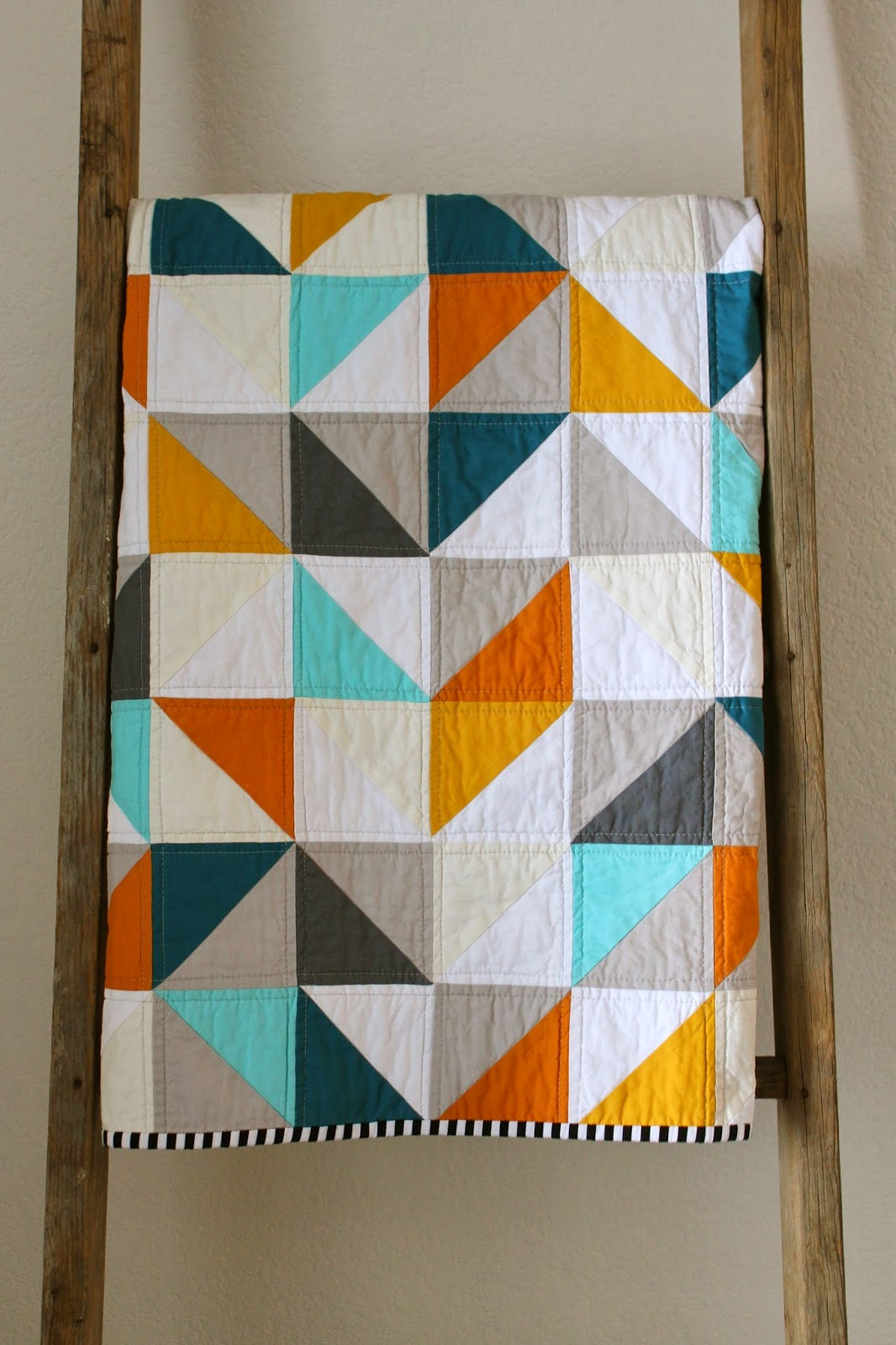 Craftyblossom Warms Cools Geometric Baby Quilt