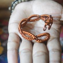 Tutorial Membuat Perhiasan Gelang dari Kawat Tembaga | Wire Jewerly