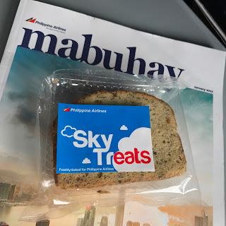 banana bread bun from Philippine Air Lines (PAL