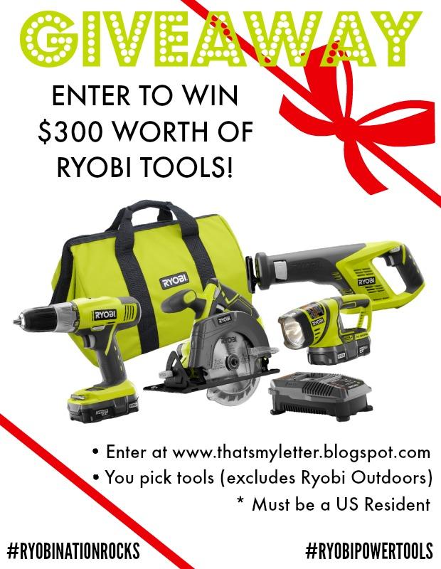 ryobi power tools giveaway