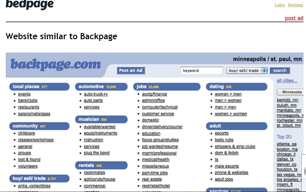 similar to backpage