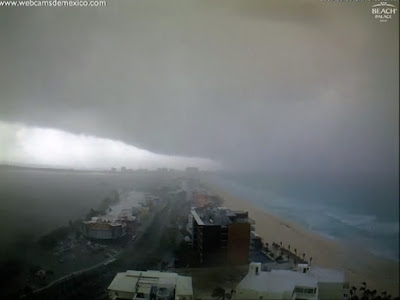 Storm clouds rolled into Cancun, Mexico, on Wednesday