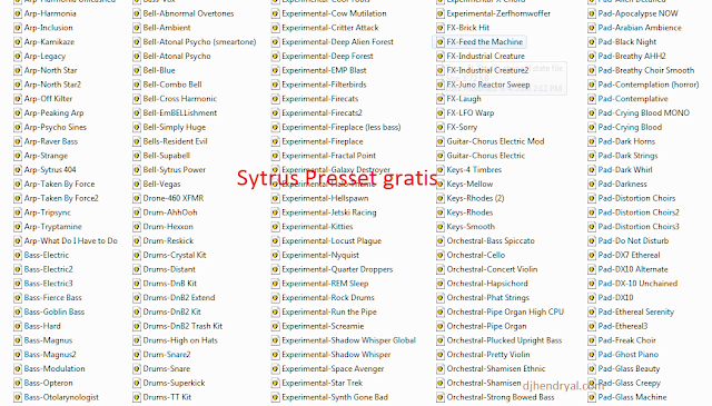 Download Gratis 365 preset Sytrus pack, ajip suaranya