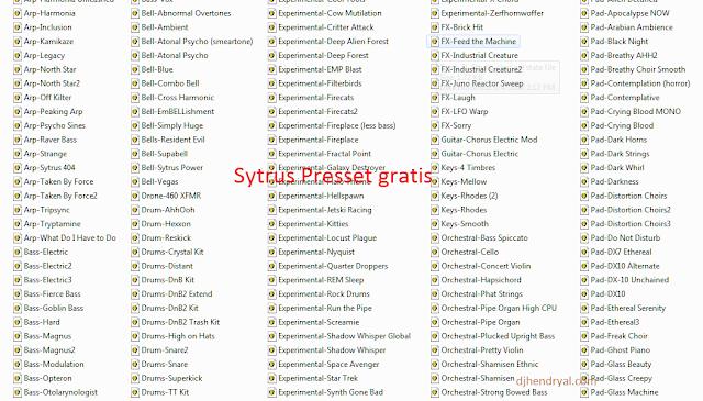 Download Gratis 365 preset Sytrus pack, ajip suaranya