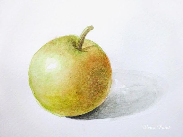 watercolour apple by Wen's Paint