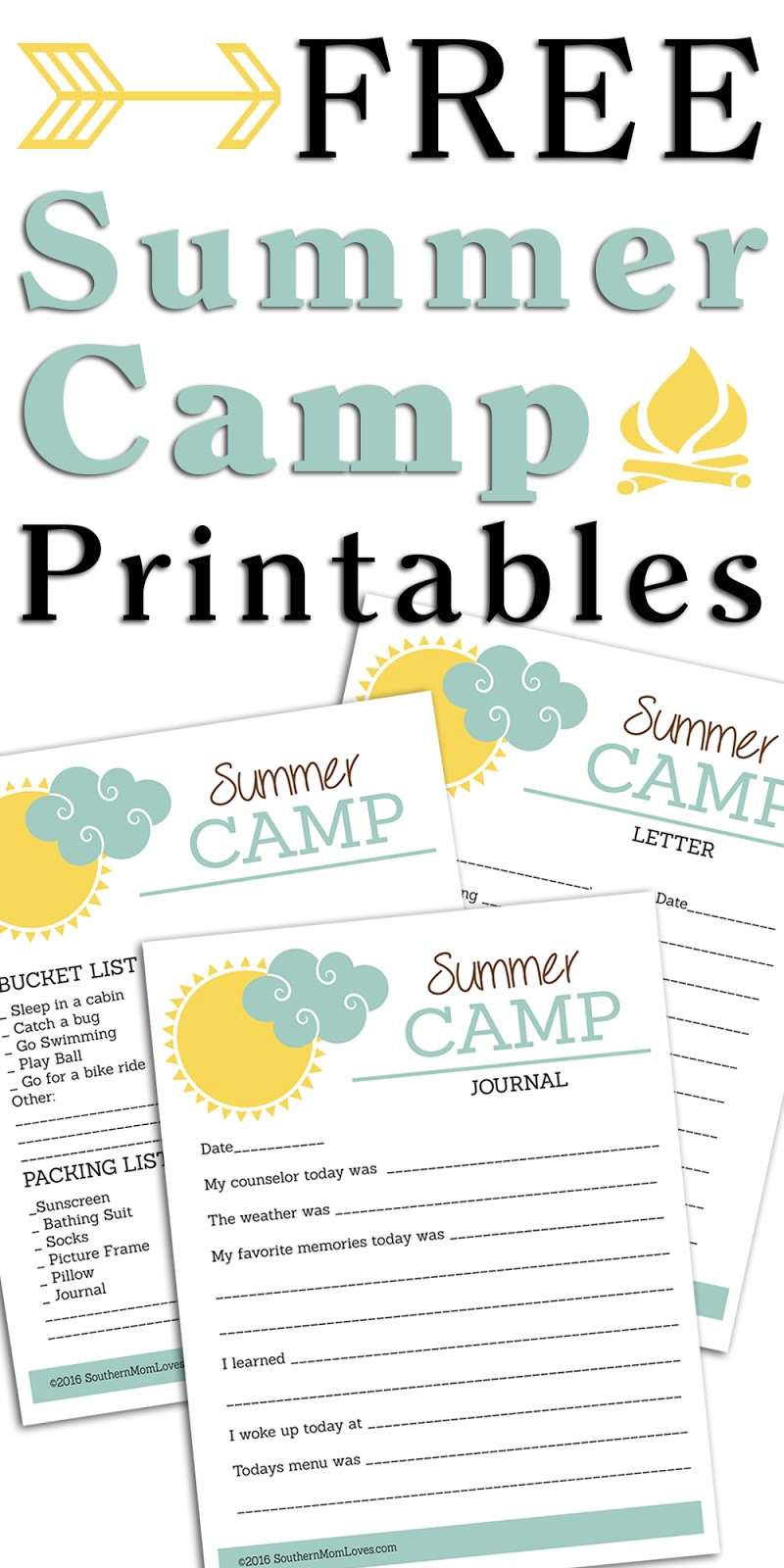 free printables for children southern free summer camp printables for 737