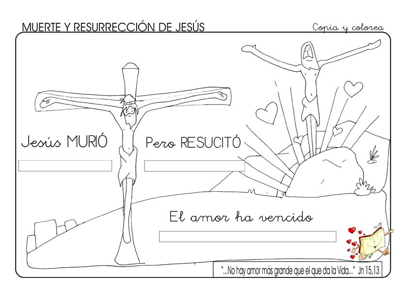 Fotocopiable Muerte Y Resurrección De Jesús Blog De Los Recursos