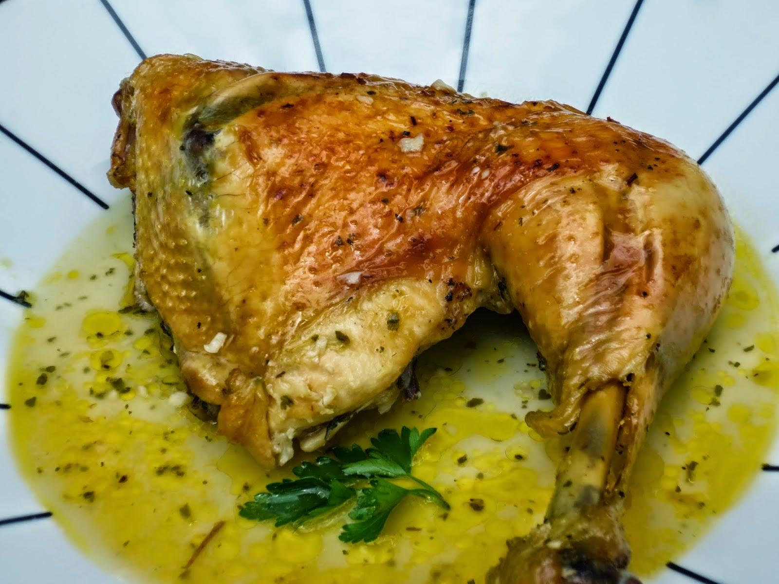 Pollo asado en su jugo en bolsa de asar Ana Sevilla con Thermomix
