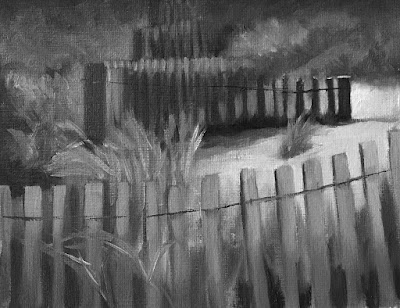 focusing with value study of beach fence Feb-6-2019 after edits greyscale