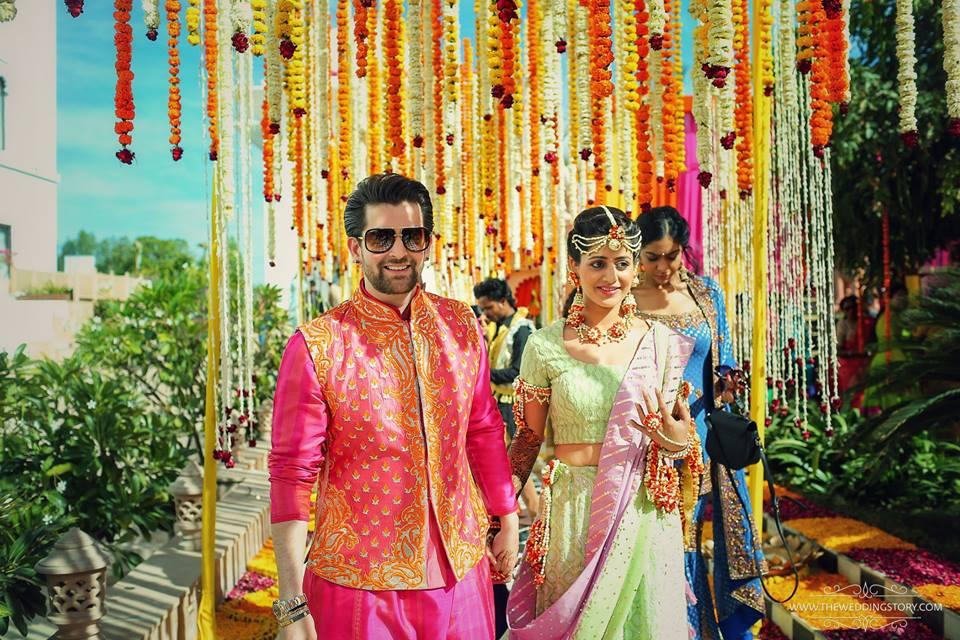 Mehndi Dupatta Decoration : Neil nitin mukesh ties knot to rukmini sahay in royal rajasthani