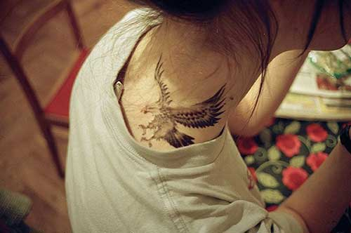 shoulder eagle tattoo for woman tumblr