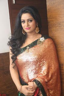 Udaya Bhanu lookssizzling in a Saree Choli at Gautam Nanda music launchi ~ Exclusive Celebrities Galleries 075.JPG