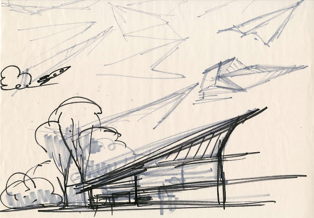 Incredibles 2 Parr Home Sketch by Ralph Eggleston