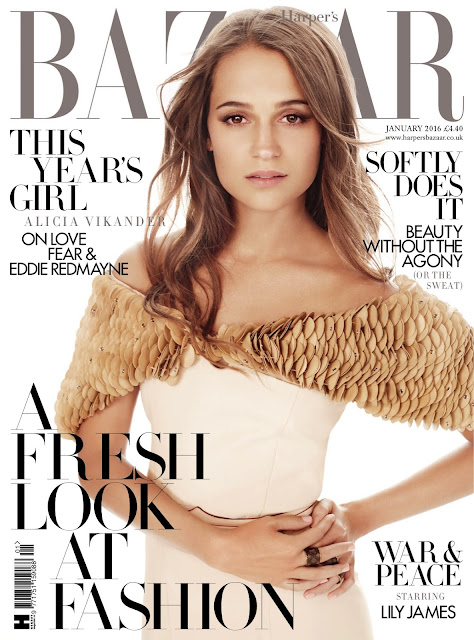 Actress, @ Alicia Vikander - Harper's Bazaar UK, January 2016