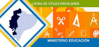 Lista de Útiles Precios Ministerio de Educación Ecuador Costa Sierra Amazonía