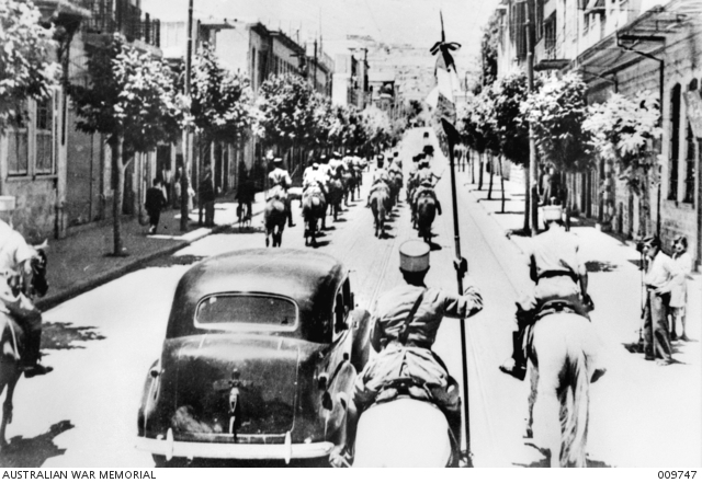 Entry of Free French into Damascus 21 June 1941 worldwartwo.filminspector.com