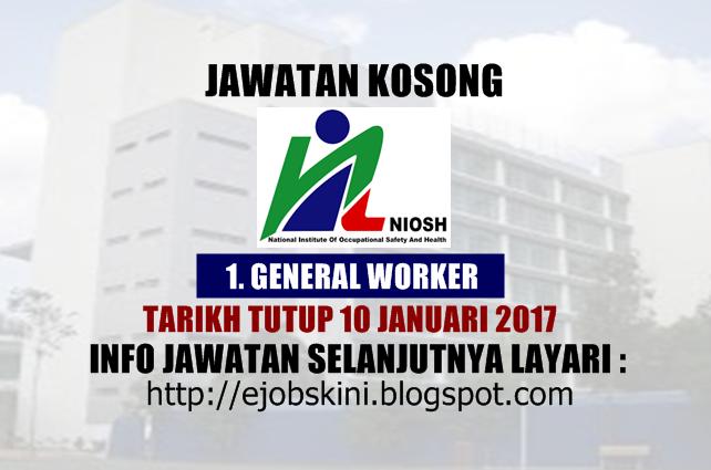 Jawatan Kosong Terkini di NIOSH