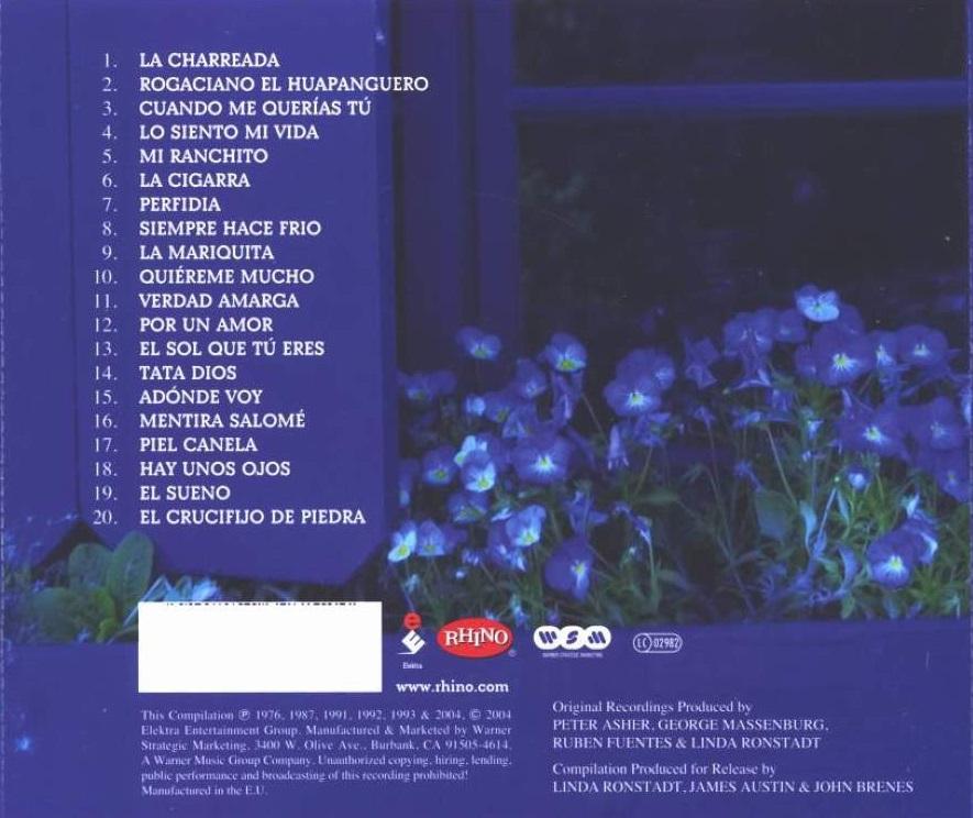 Entre musica linda ronstadt jard n azul las canciones for Jardin azul canal 9