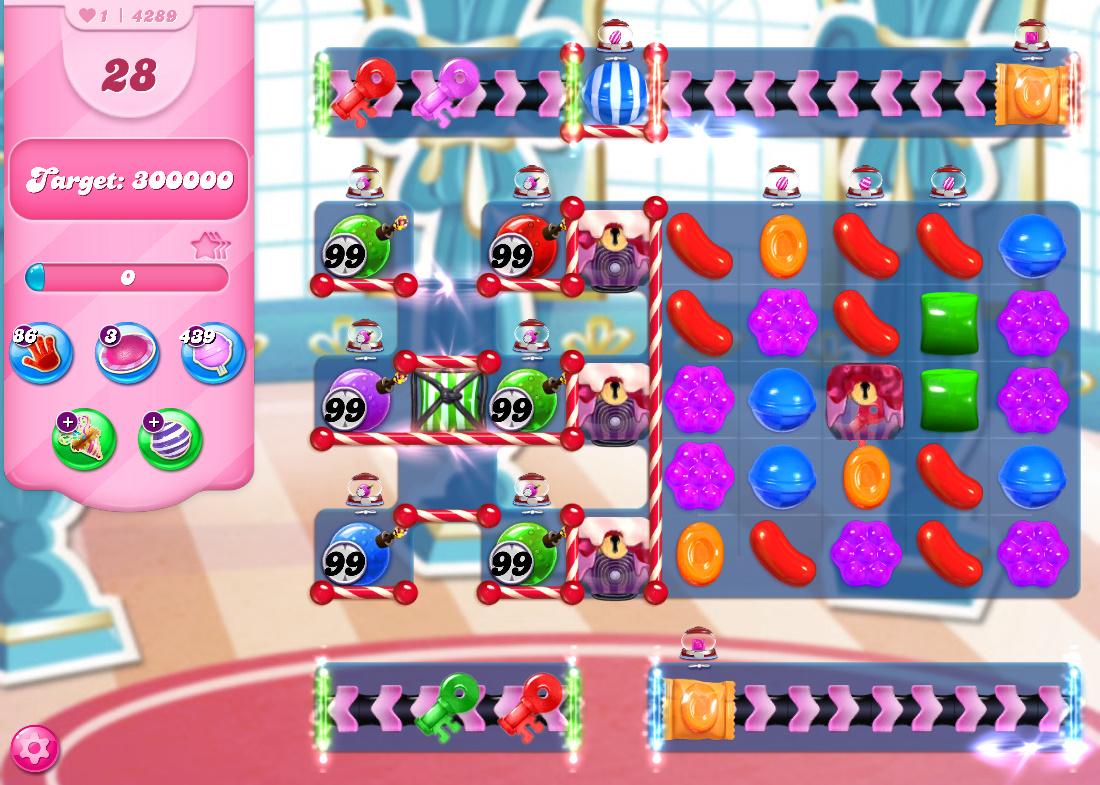 Candy Crush Saga level 4289