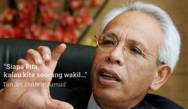 Luahan hati Tan Sri Shahrir Samad