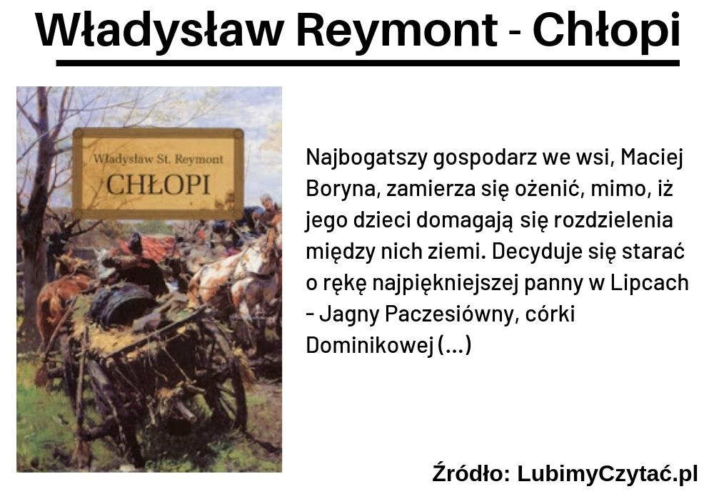 Władysław Reymont, Chłopi, TOP 10, Marzenie Literackie