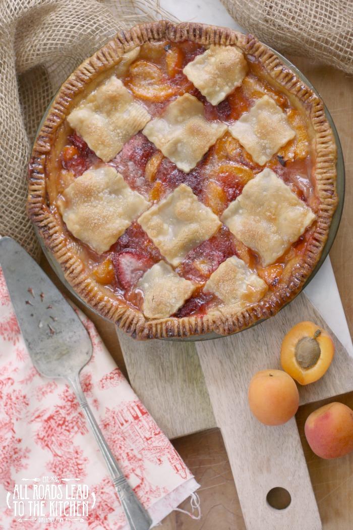 Blushing Apricot Pie