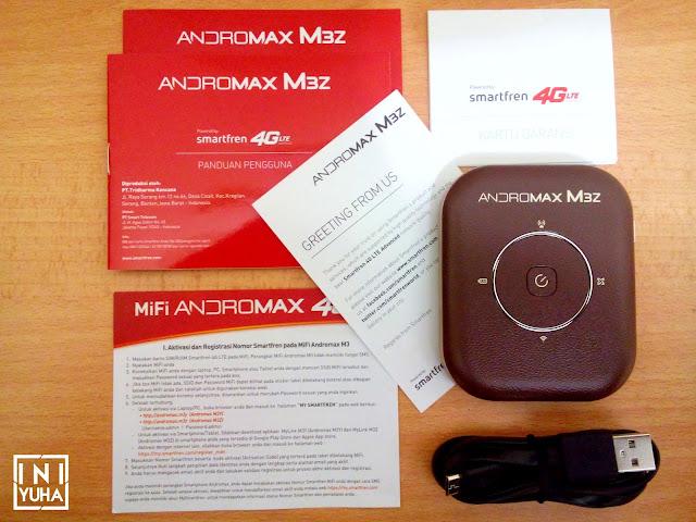 Kelengkapan Mifi Andromax M3Z Smartfren 4G LTE