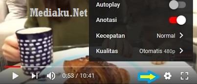 Settings Kualitas Video Youtube