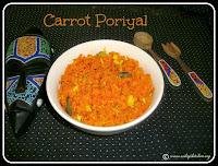 Carrot Poriyal /recipe,Carrot Thoran recipe, Carrot Fry Recipe / Carrot Stir Fry Recipe