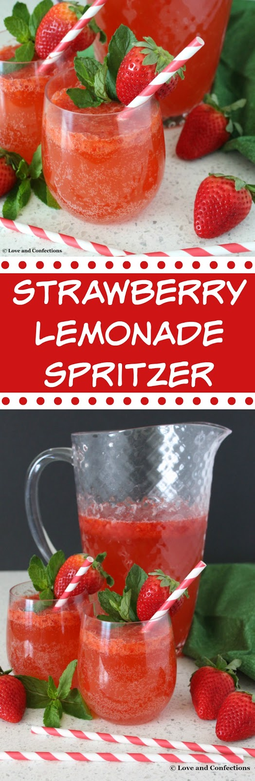 Strawberry Lemonade Spritzer from LoveandConfections.com