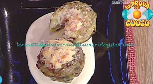 Prova del cuoco - Ingredienti e procedimento della ricetta Carciofi ripieni con besciamella e prosciutto cotto di Cristian Bertol