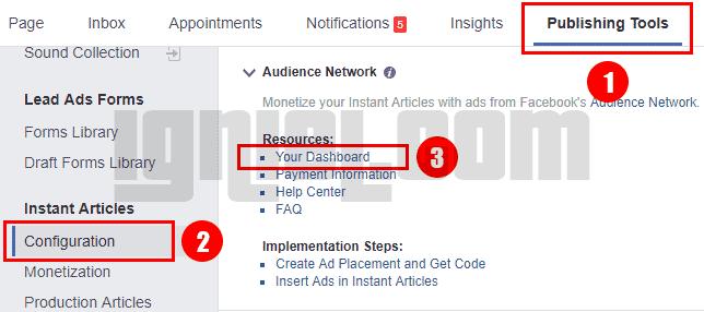 Cara Ambil Kode Iklan Audience Network Facebook