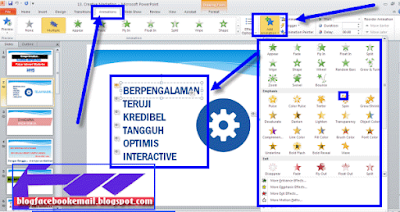 cara membuat animasi power point 2010