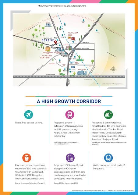 vaishnavi serene location map