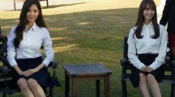Foto wisuda milik Yoona dan Seohyun
