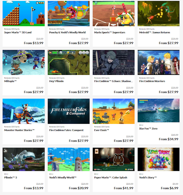 My Nintendo 30% Off Just For You Birthday Offer December 2018 3DS Wii U games